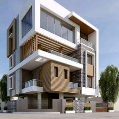 27 Ideas For Exterior House Materials Building Bungalow House Design, House Front Design, Modern House Design, Facade Design, Exterior Design, Modern Bungalow Exterior, Contemporary House Plans, House Elevation, Facade House