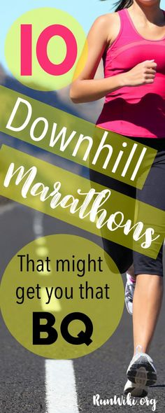 A list of the fastest downhill marathons in the USA- grab that Boston Qualification with these speedy courses. Half Marathon | running | training plan| Tips | Motivation | Bucket List Races