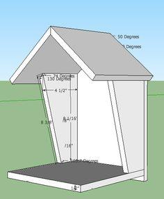 5 robin bird house plans robins and cardinals like an for Cardinal house plans