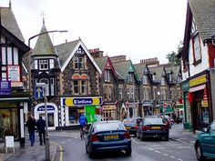 This is the face of the street of Bowness-on-Windermere.