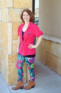 """Great quote by Tammy Litke :) """"Let me tell you, these Just Live leggings are fabulous.  They can be worn for working out, yoga, cycling – and even for regular everyday wear!  They really can be worn all the time (or at least I WANT to wear them all the time!)."""""""