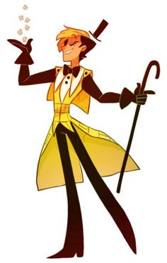 Pinterest has introduced me to human!Bill and I have to admit it's pretty cool. (original caption - Humanized! Bill Cipher from Gravity Falls):