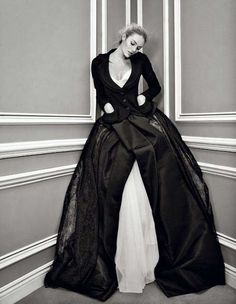 Candice Swanepoel in Dior haute couture photo by Patrick Demarchelier for V magazine 2011