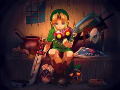 The Legend of Zelda: Majora's Mask, Young Link / Work by Nak_421