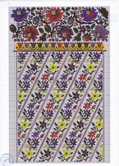 Gallery.ru / Фото #87 - Без названия - 753159: Cross Stitch Borders, Cross Stitch Flowers, Cross Stitch Charts, Cross Stitch Designs, Cross Stitching, Cross Stitch Patterns, Embroidery Patterns Free, Embroidery Applique, Cross Stitch Embroidery
