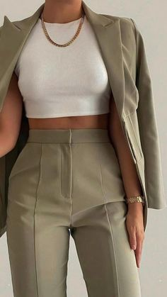 Spring Outfits Women, Teen Fashion Outfits, Suit Fashion, Look Fashion, Fashion Spring, Womens Fashion, Fashion Trends, Stylish Work Outfits, Cute Casual Outfits