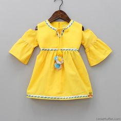 Pre Order: Yellow Kurti with Printed Dhoti Yellow Kurti, Yellow Dress, Dress Outfits, Kids Outfits, Fashion Outfits, Cold Shoulder Kurti, Ethnic Outfits, Ethnic Clothes, Outfit Goals