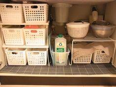 100均DIY!キッチンのシンク下のアイデア収納術(棚すのこ ボックス ケース ネット セリア 百均 - NAVER まとめ