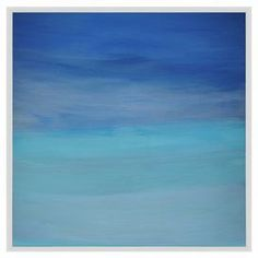 Blue Waves Framed Giclee Print at Joss and Main Blue Home Decor, Coastal Decor, Blue Abstract, Abstract Wall Art, Diy Wall Art, Framed Wall Art, Wall Decor, Blue Walls, Joss And Main