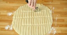 Using A Pizza Cutter, She Cuts Dough Into Strips. Her Next Step Has My Mouth Watering