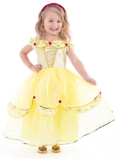 Clothing, Shoes & Accessories Children Girls Beauty And The Beast Kids Princess Belle Dress Up Set B1
