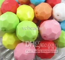 Jewelry 22mm Colorful Round Acrylic Hexagon Beads 2013 Newest Solid Faceted Beads / From Vcbeads, $16.09 | Dhgate.Com