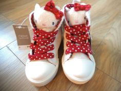 NEXT Girls Hello Kitty cream fur hi top boots shoes BNWT size Uk 5 childrens NEW