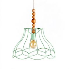 Naked Pendant Lamp Hanging Ceiling Lights Lighting Victorian Vintage Wooden Lamp Lampshade Modern Minimal Geometric Mint Green Home Decor(Etsy のLambaterより) https://www.etsy.com/jp/listing/222706957/naked-pendant-lamp-hanging-ceiling