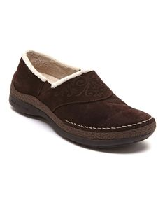 Look at this Brown Ruby Plush Suede Slip-On Shoe on #zulily today!