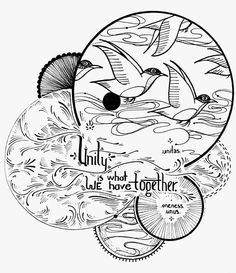 David Hale- tattoo inspiration- like the overlapping circles but not quote or content....