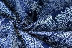 Artipoppe Paisley Persian Blue 62% superwash merino, 38% cotton 312 gr/m2