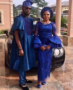 Fashion Forward, Trendy, and Eye-Popping Aso-Ebi Styles - Wedding Digest Naija Nigerian Wedding Dress, African Wedding Attire, Nigerian Bride, African Attire, African Wear, African Women, African Style, Lace Dress Styles, African Lace Dresses