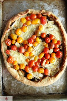 Blue Cheese, Balsamic and Cherry Tomato Pizza by Heather Christo, via Flickr