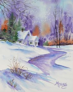 Coming Home - watercolor by ©Martha Kisling - http://marthakisling.blogspot.com/2012/04/draw-vs-trace.html