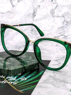 Glasses Outfit, Fashion Eye Glasses, Green Glasses Frames, How To Fix Glasses, Eyeglasses Frames For Women, Prescription Glasses Online, Haircut For Thick Hair, Cat Eye Frames, Retro Sunglasses