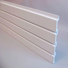 Groovewall slatwall panel: pack of 6 (slatwall: shop fittings)  This pack of slatwall panel is perfect for displaying in shops , garages or in the home - wherever you need to maximise your storage.  Product Details... Material: White PVC The slatwall panel has the following dimensions: Height - 31cm : Width - 200cm Fixing Method: Wall Fixing