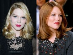 Léa Seydoux's blonde to red hair transformation
