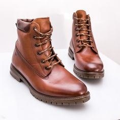 Ghete barbati Piele naturala imblanite maro Hallyo Dr. Martens, Hiking Boots, Combat Boots, Casual, Shoes, Fashion, Moda, Zapatos, Shoes Outlet