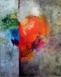 """The colours of my heart""  by FrauKe Nees (100x80 cm Arylic/Canvas)"