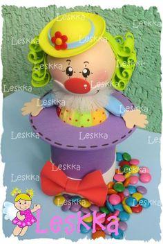 "Dulcero de ""payasita"" Perfecto para un dia del niño o una fiesta de payasos o circo"