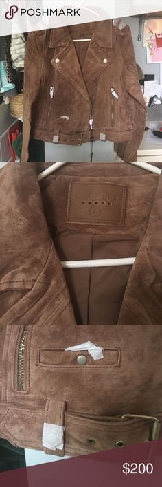 BlankNYC 100% real leather jacket in saddle brown Brand new with tags, this is THE jacket of the season! Sold out everywhere! Never worn, this jacket goes with everything. Blank NYC Jackets & Coats