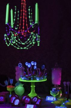 Glow In The Dark Black Light Party Ideas