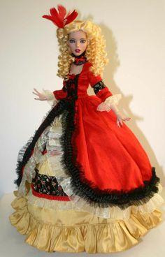 """Opulent Gown Outfit for 16"""" Deja Vu Tonner"""