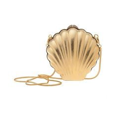 LANVIN Art Deco brass shell clutch (7.355 RON) ❤ liked on Polyvore featuring bags, handbags, clutches, purses, accessories, jewelry, women, clasp purse, hand bags and shell purse