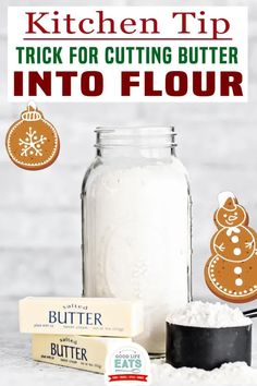 """4 different ways to cut butter into flour for recipes like pie crusts or biscuits. The 4th method of cutting butter in flour on this list is my all time favorite kitchen tips, and also the best way to cut butter into flour if you're wondering """"what can I substitute for a pastry blender""""!   Good Life Eats @goodlifeeats #bakingtips #cookingtips #howtocutbutterintoflour #kitchentips #kitchenhacks #goodlifeeats Healthy Thanksgiving Recipes, Winter Recipes, Spring Recipes, Baking Basics, Baking Tips, Cooking Hacks, Food Hacks, Christmas Recipes, Holiday Recipes"""