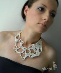 Crochet necklace #crochet