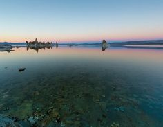 Shapes of nature #2   #clear_water #water #sunset #monolake amazing glow in the horizon right after sunset at Mono Lake California