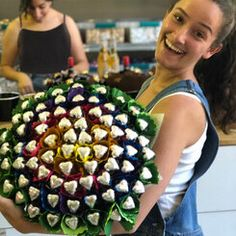 Why send a dozen of roses when you can send sixty chocolate hearts – A bouquet that's sure to melt their heart Birthday Chocolates, Birthday Candy, Chocolate Hearts, Chocolate Gifts, Happy Fathers Day, Happy Mothers, Edible Bouquets, Chocolate Bouquet, Belgian Chocolate
