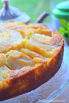 Gâteau au yaourt et aux pommes ultra moelleux.