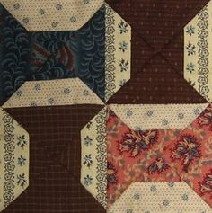 Empty Spools Quilt block Barbara Brackman Civil War Quilt