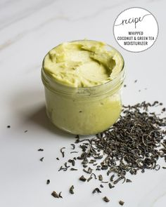 Give your summertime skin a natural boost with this luxurious whipped green tea and coconut oil moisturizer recipe!