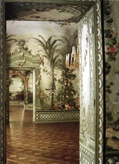 Empress Maria Theresa's summer rooms at Shonbrunn, or the Goëss Apartment. Photography by Fritz von der Schulenburg. > Via. > If inter...