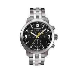 833b7586768 Tissot Men s T0554171105700  PRC200  Chronograph Stainless Steel Watch  Relógios Esportivos