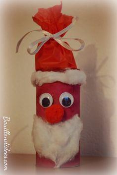 DIY Noël, père Noël en rouleau papier toilette