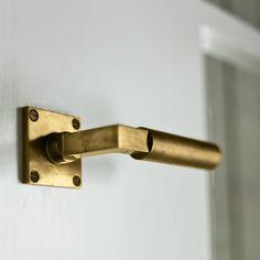 Fancy - Brass Lever Door Handle
