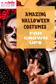 Now that you bought your children their Halloween costumes, it is now your turn. A Subtle Revelry has lined up for you an assortment of costume ideas that you can get behind. This day is fun for everyone so don't pass up on joining your children in getting all dressed up. Choose the one that is calling to your inner - fill in the blanks - and have an awesome time. You will have other ideas to choose from for the upcoming years. See the full list. #halloween #costumes #grownups
