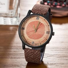 New 2017 Wood Retro Women Casual Watches Brand Vintage Leather ladies Quartz Clock Hours Woman Fashion Face Wooden dress Watch Big Watches, Casual Watches, Cool Watches, Watches For Men, Stylish Watches, Swiss Army Watches, Elegant Watches, Beautiful Watches, Wooden Watch