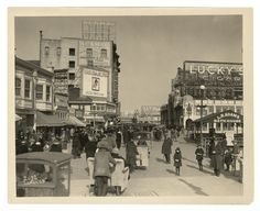 Atlantic City Boardwalk. Easter, April 1, 1923.    This is the time frame when the fictional character in HBO's boardwalk Empire, Nucky Thompson, would have lived. Nucky Thompson is based on the real life Nucky Johnson. Google him for his story.