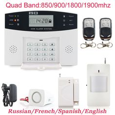 4 Piece Door /& Window Alarm System for Home Office Vacation Tactical Survival
