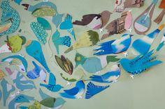Detail of Jen Talbot bird diorama